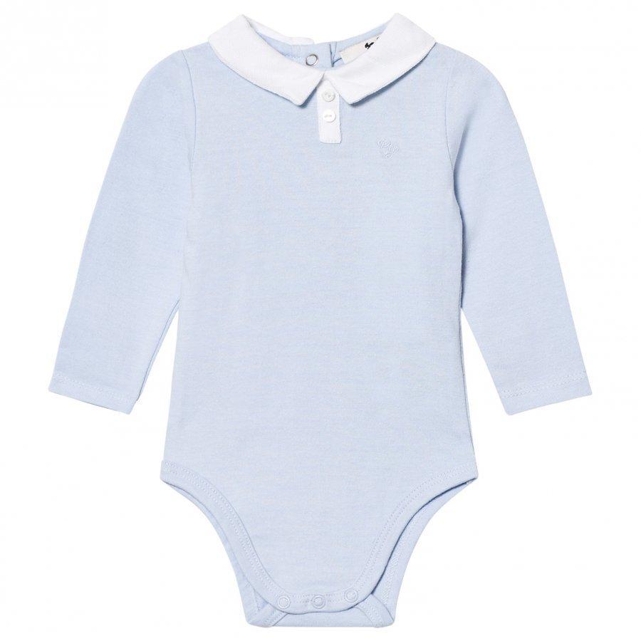 Cyrillus Pale Blue Long Sleeve Baby Body