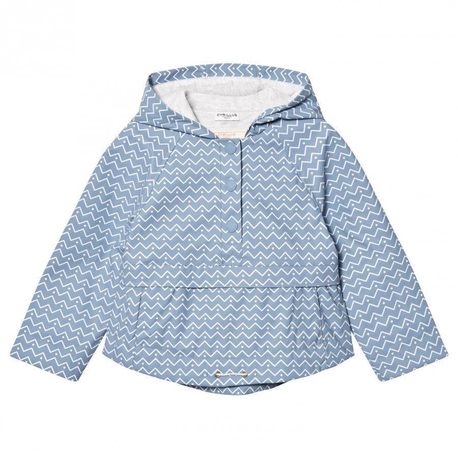 Cyrillus Pale Blue Printed Hooded Raincoat Sadetakki