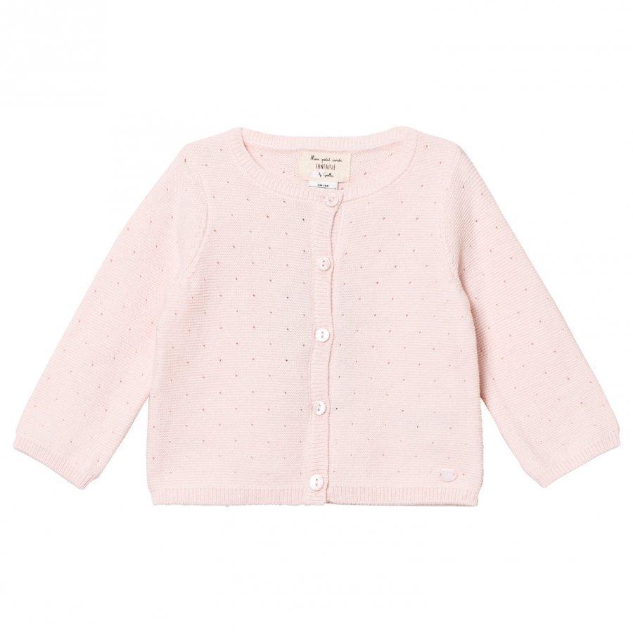Cyrillus Pale Pink Cardigan Neuletakki