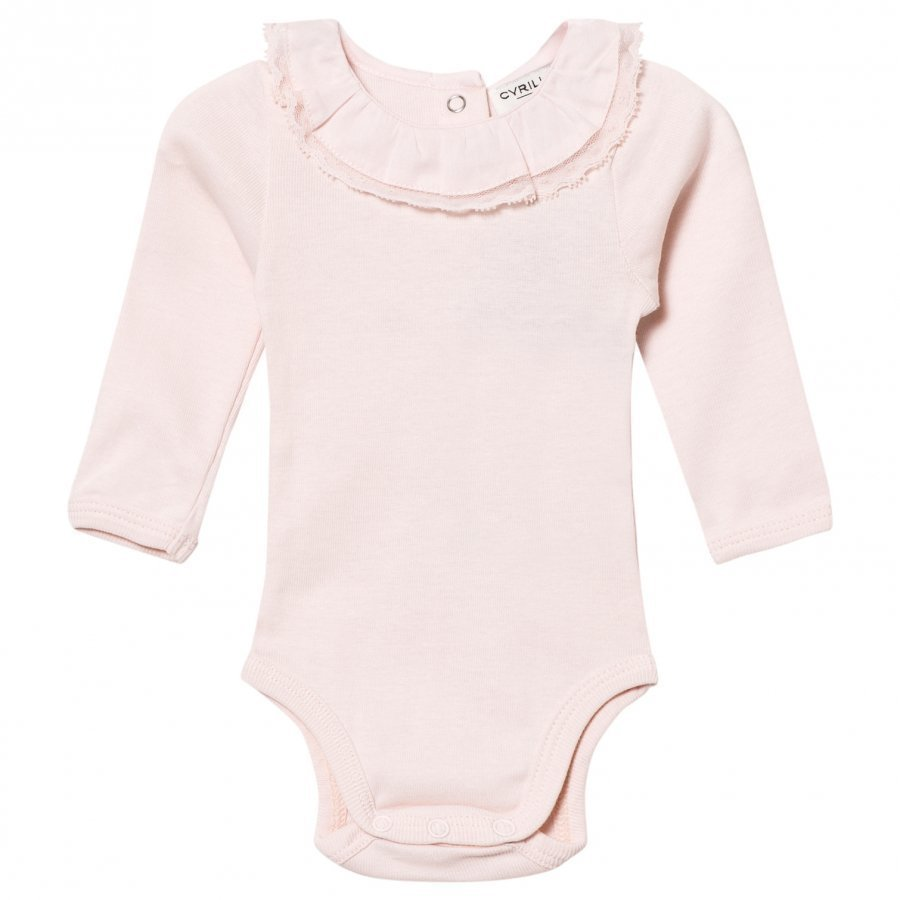 Cyrillus Pale Pink Long Sleeve Baby Body Frill Collar Body