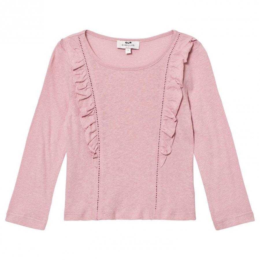 Cyrillus Pale Pink Long Sleeve Tee Pitkähihainen T-Paita