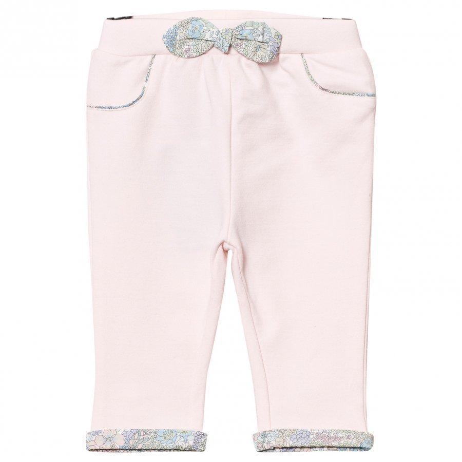 Cyrillus Pale Pink Pants Floral Bow Housut