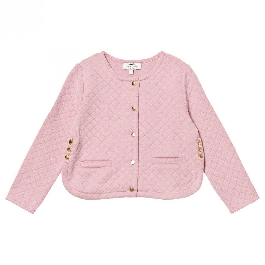 Cyrillus Pale Pink Quilted Cardigan Tikkitakki