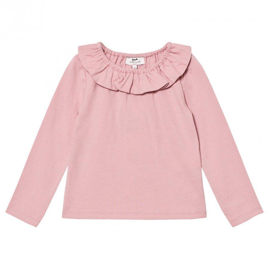 Cyrillus Pink Pierrot Collar Tee Pitkähihainen T-Paita