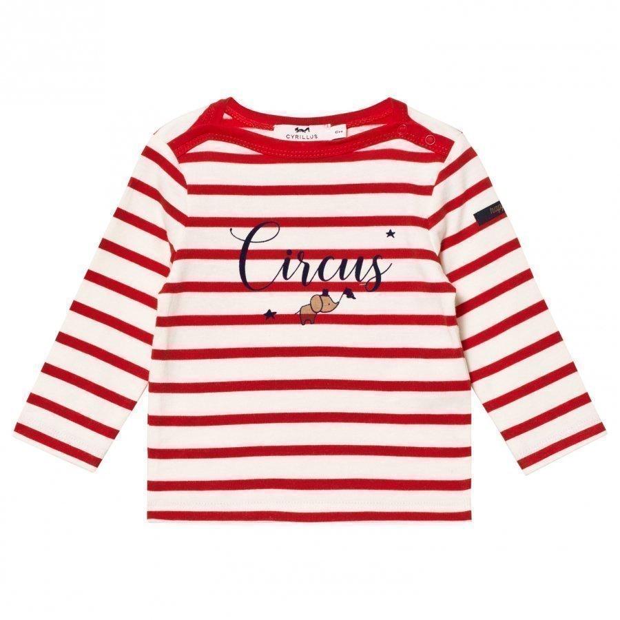 Cyrillus Red/White Stripe Long Sleeve Tee Pitkähihainen T-Paita