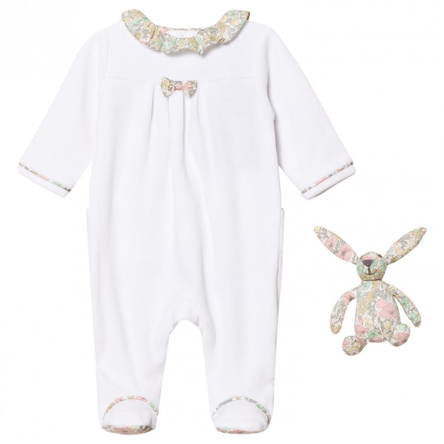 Cyrillus White Footed Baby Body With Liberty Collar And Bunny Body