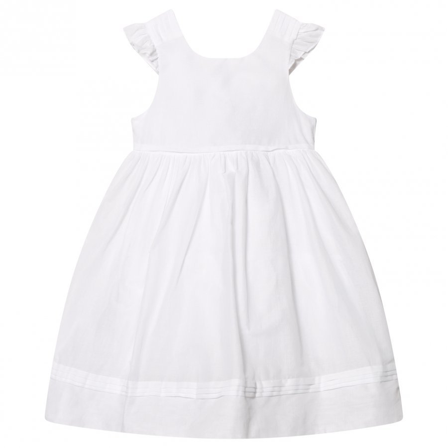 Cyrillus White Frill Sleeve Dress Mekko