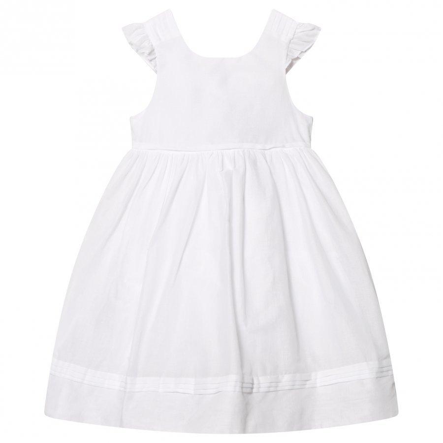 Cyrillus White Frill Sleeve Dress Mekko