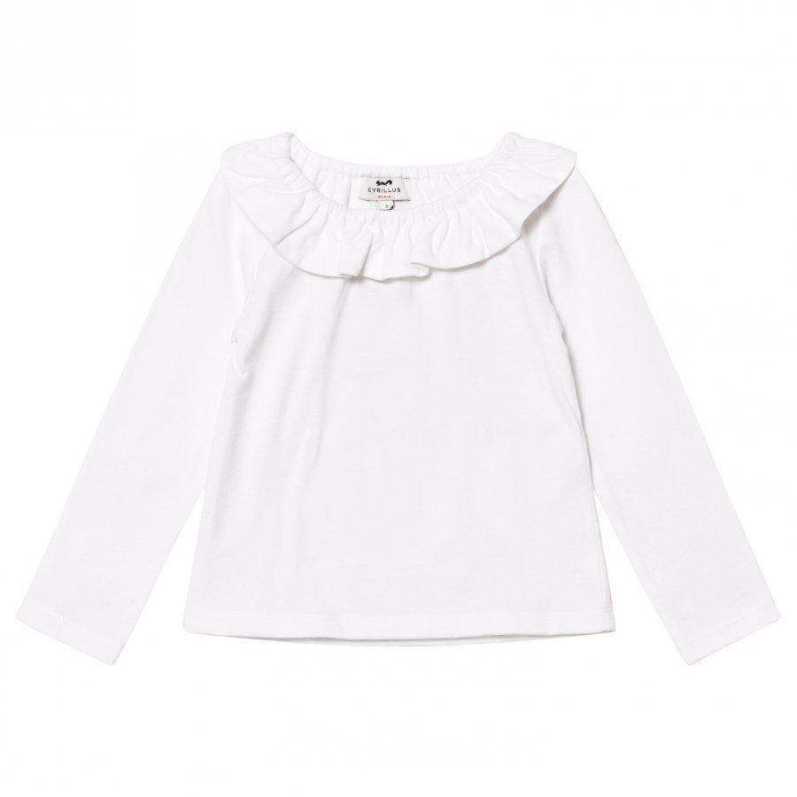 Cyrillus White Pierrot Collar Tee Pitkähihainen T-Paita