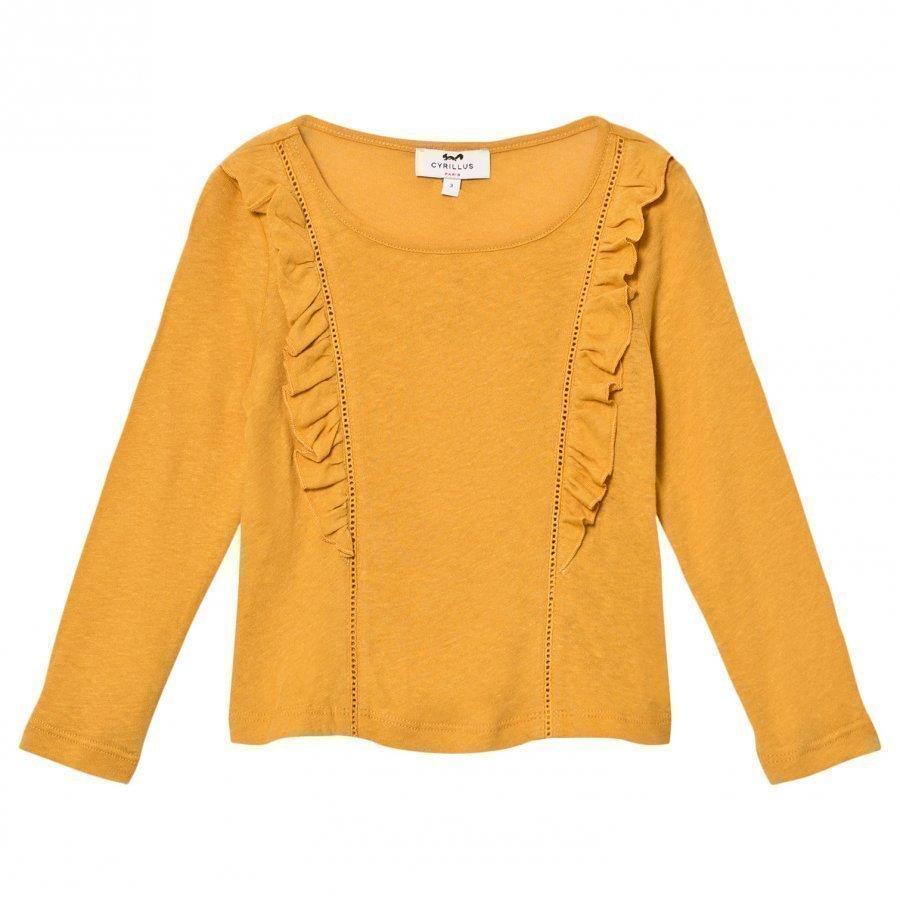 Cyrillus Yellow Long Sleeve Tee Pitkähihainen T-Paita