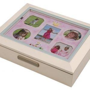 Dacapo Muistolaatikko Prinsessa Valkoinen/Vaaleanpunainen