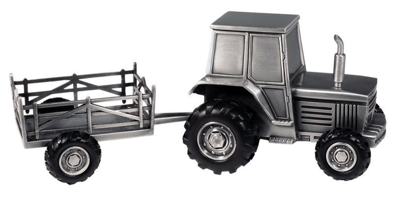 Dacapo Säästölipas Traktori ja kärry Hopea