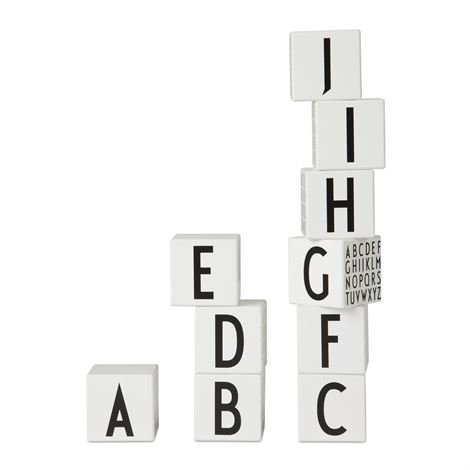 Design Letters Aakkospalikat Valkoinen