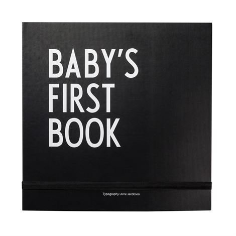 Design Letters Baby's First Book Kirja Musta