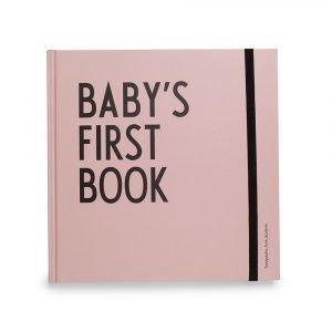 Design Letters Baby's First Book Kirja Vaaleanpunainen