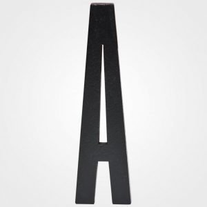 Design Letters Black Wooden Letters A Juliste