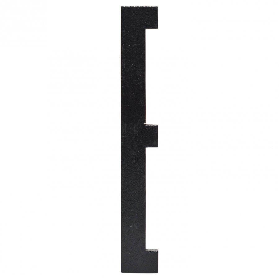 Design Letters Black Wooden Letters E Seinätarra
