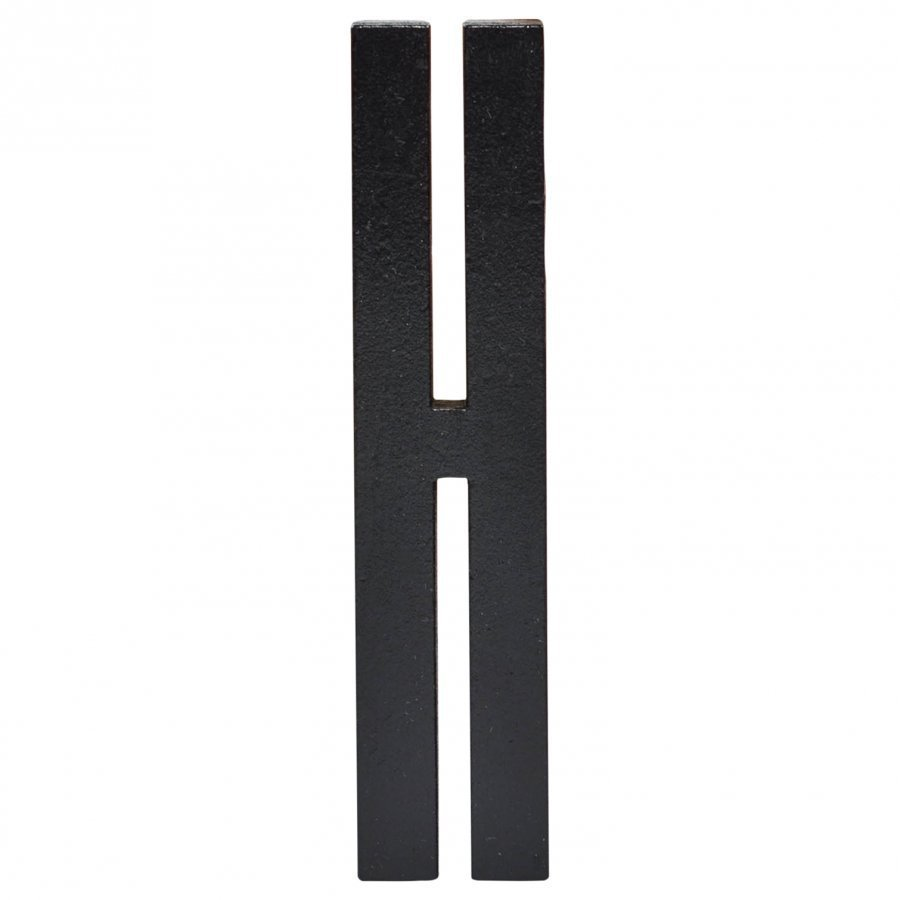 Design Letters Black Wooden Letters H Juliste