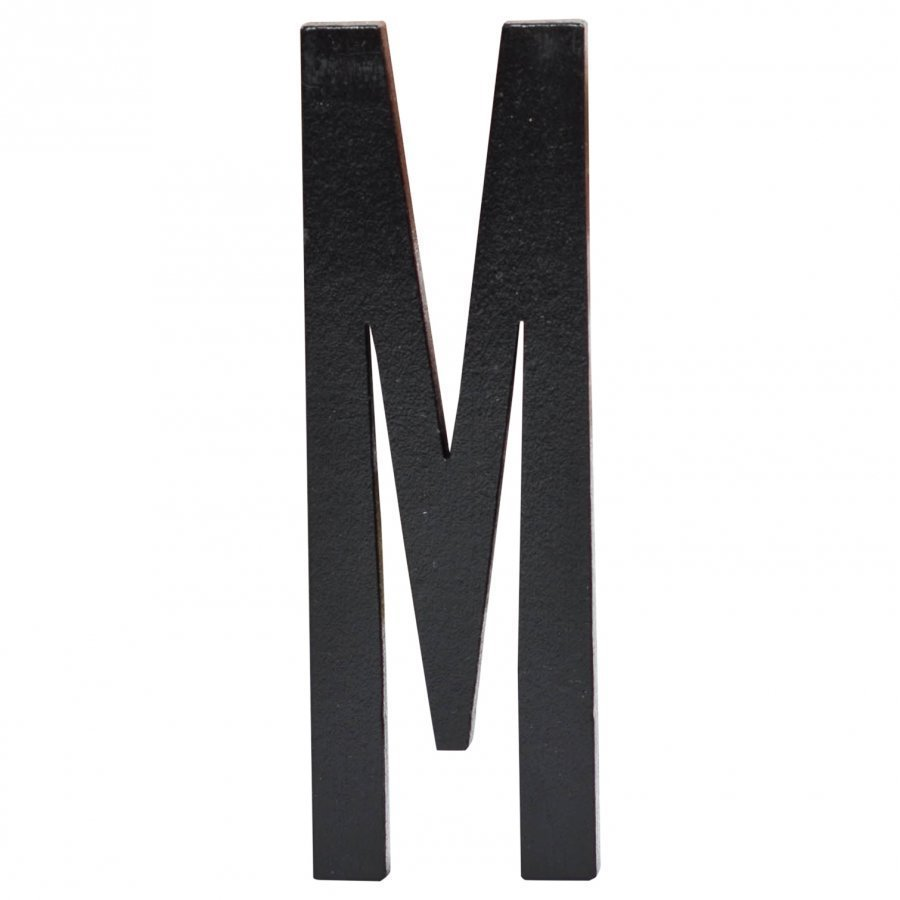 Design Letters Black Wooden Letters M Juliste
