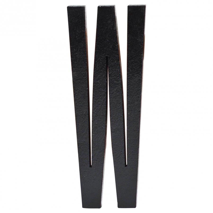 Design Letters Black Wooden Letters W Juliste