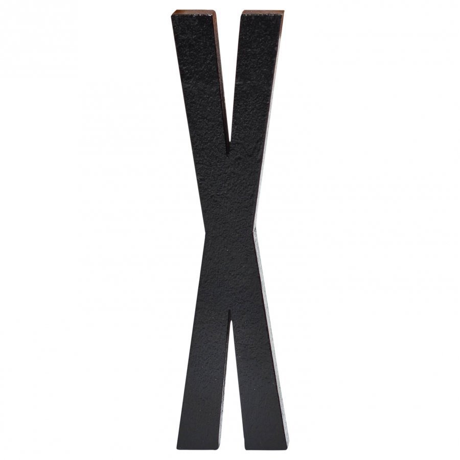 Design Letters Black Wooden Letters X Juliste