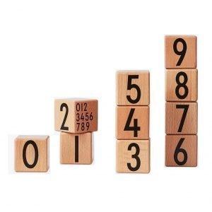 Design Letters Kub Numero 0-9 Setti Puu