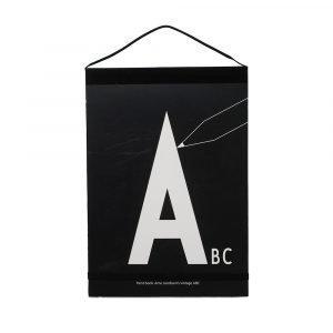 Design Letters Maalauskirja A Z Musta