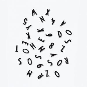 Design Letters Numerot & Kirjaimet Musta