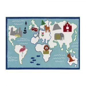 Designers Guild Kids Around The World Aqua Matto