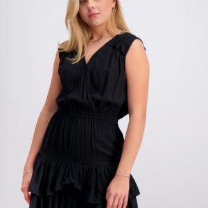 Designers Remix Girls Eliza Ruffle Dress Mekko Musta