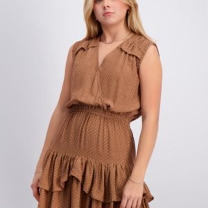 Designers Remix Girls Eliza Ruffle Dress Mekko Ruskea