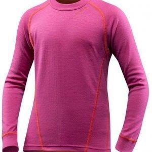 Devold Active Kid Shirt Kerrastopaita Fuksia