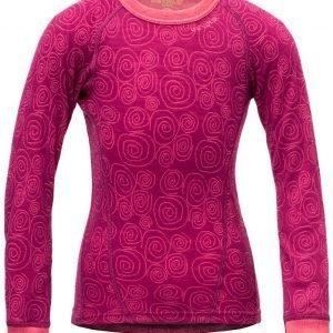 Devold Active Kid Shirt Kerrastopaita Plum