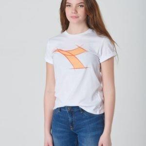 Diadora Ss T Shirt Fre T-Paita Valkoinen