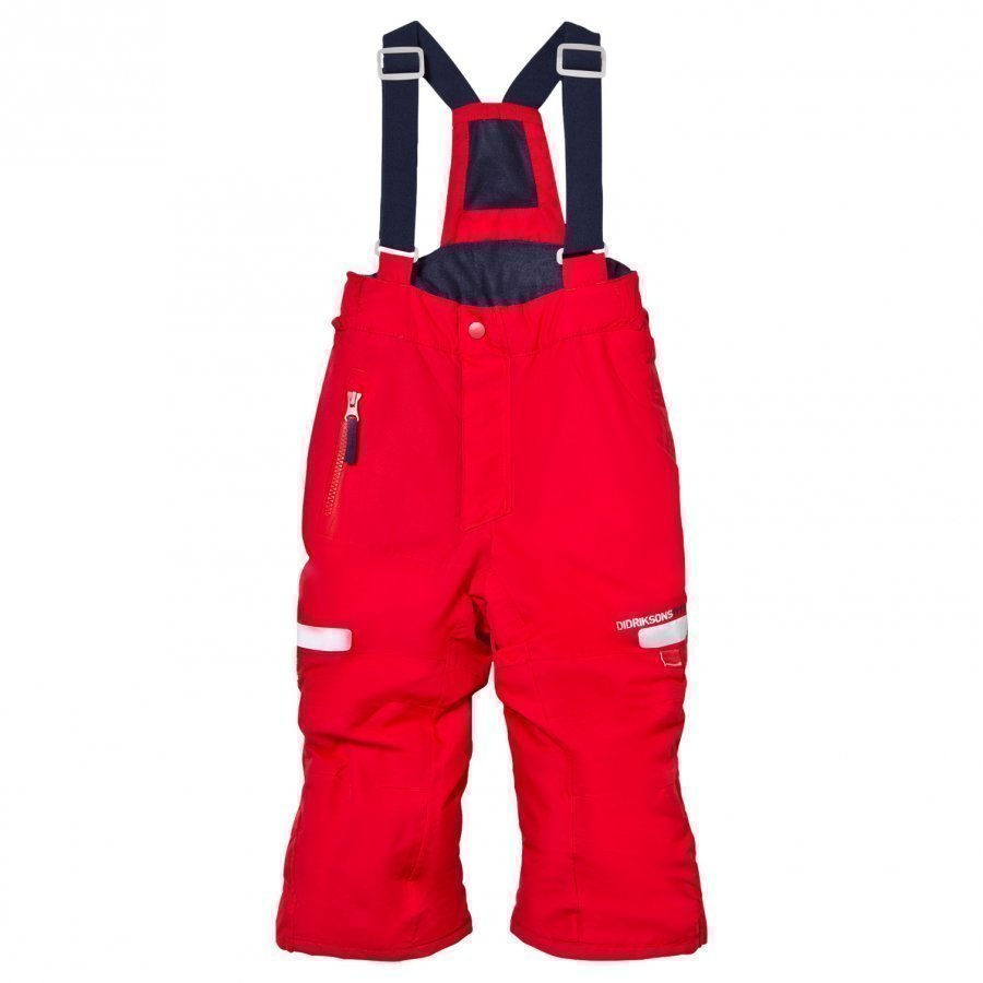 Didriksons Amitola Kid's Overalls Tomato Red Toppahousut