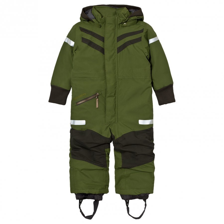 Didriksons Bark Kids Coverall Turtle Green Toppahaalari
