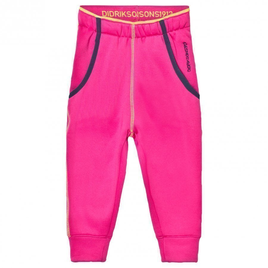 Didriksons Bawal Kids Softshell Pants Fuchsia Fleece Housut