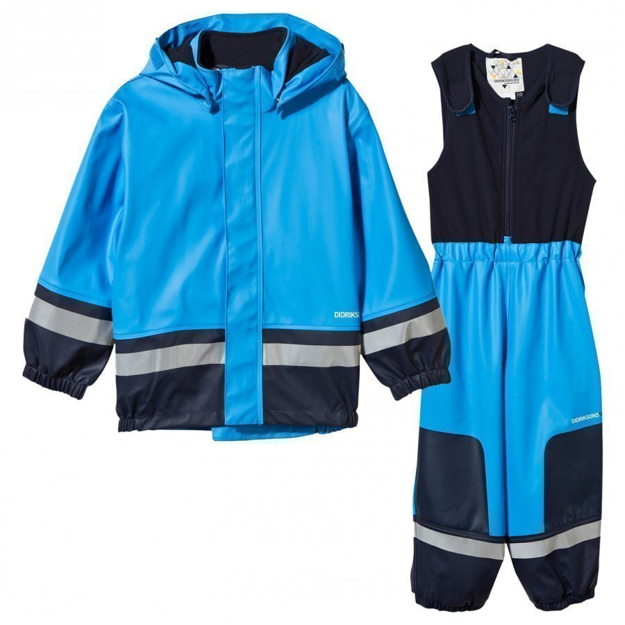 Didriksons Boardman Kids Set Sharp Blue Sadesetti