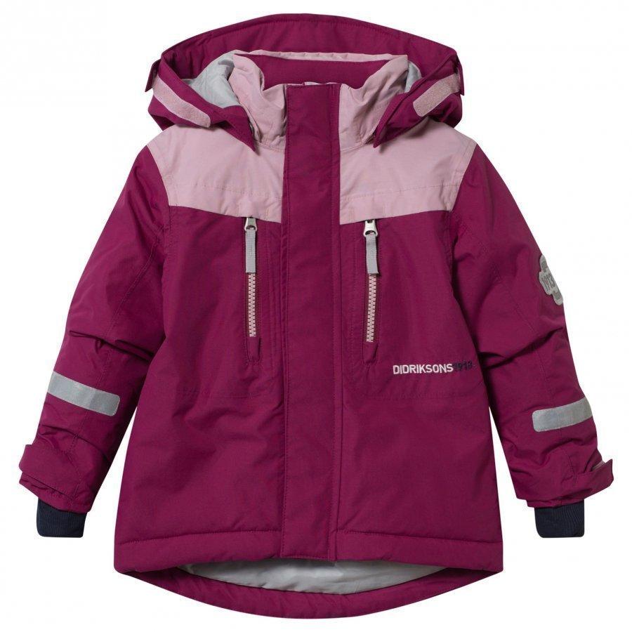 Didriksons Hamres Kid's Jacket Dark Lilac Toppatakki