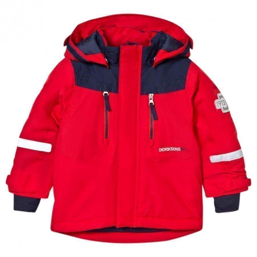 Didriksons Hamres Kid's Jacket Tomato Red Toppatakki