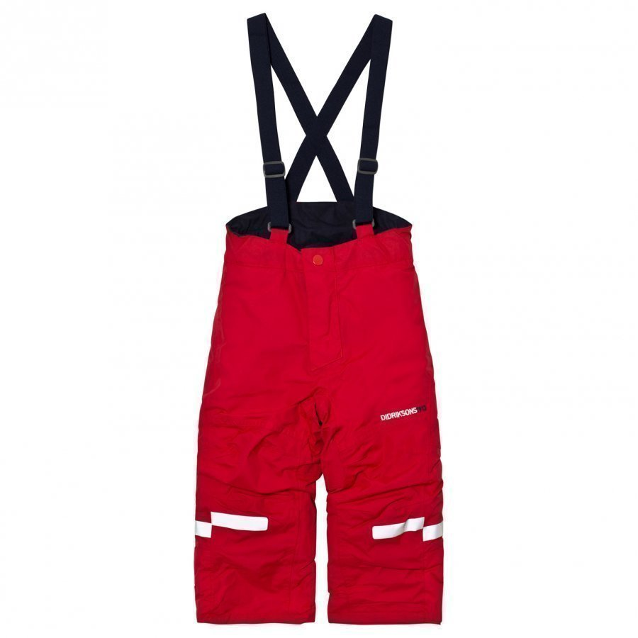 Didriksons Idre Kids Pants Red Toppahousut