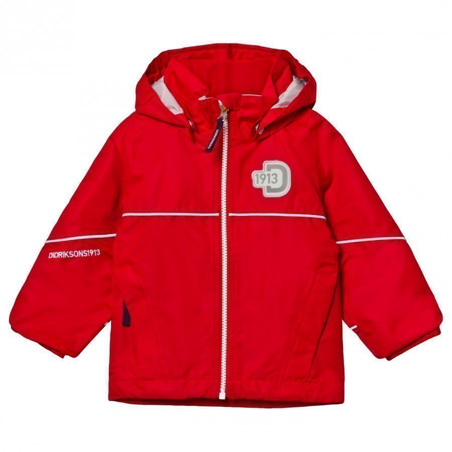 Didriksons Jarkos Kid's Jacket Flag Red Kuoritakki