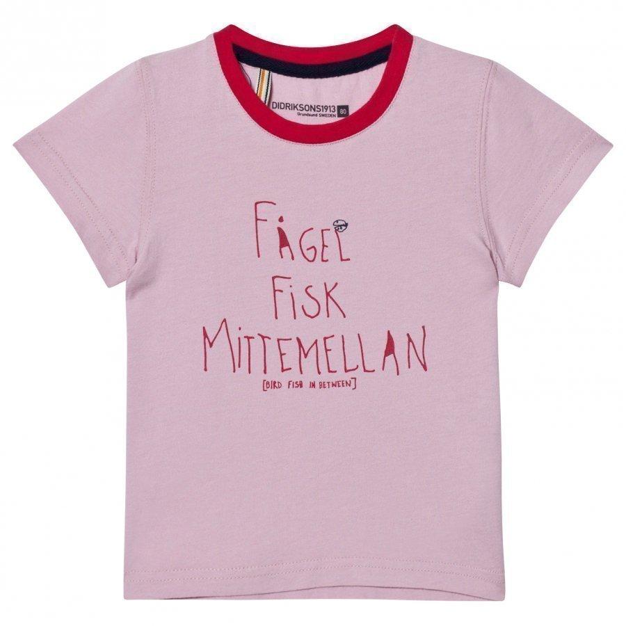 Didriksons Krabban Kids T-Shirt Dusty Pink T-Paita