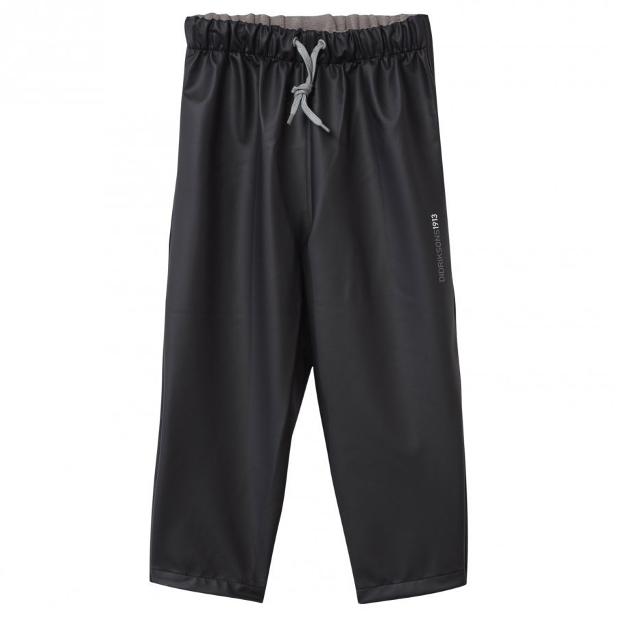 Didriksons Midjeman Kid's Rain Pants Black Sadehousut