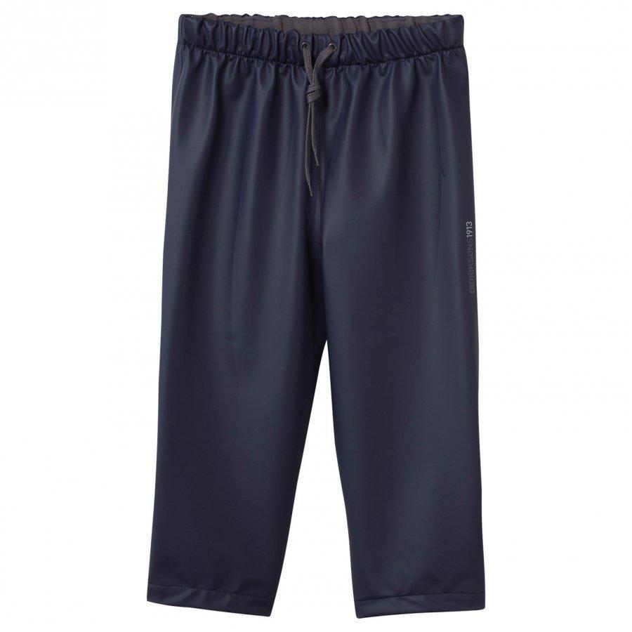Didriksons Midjeman Kid's Rain Pants Navy Sadehousut