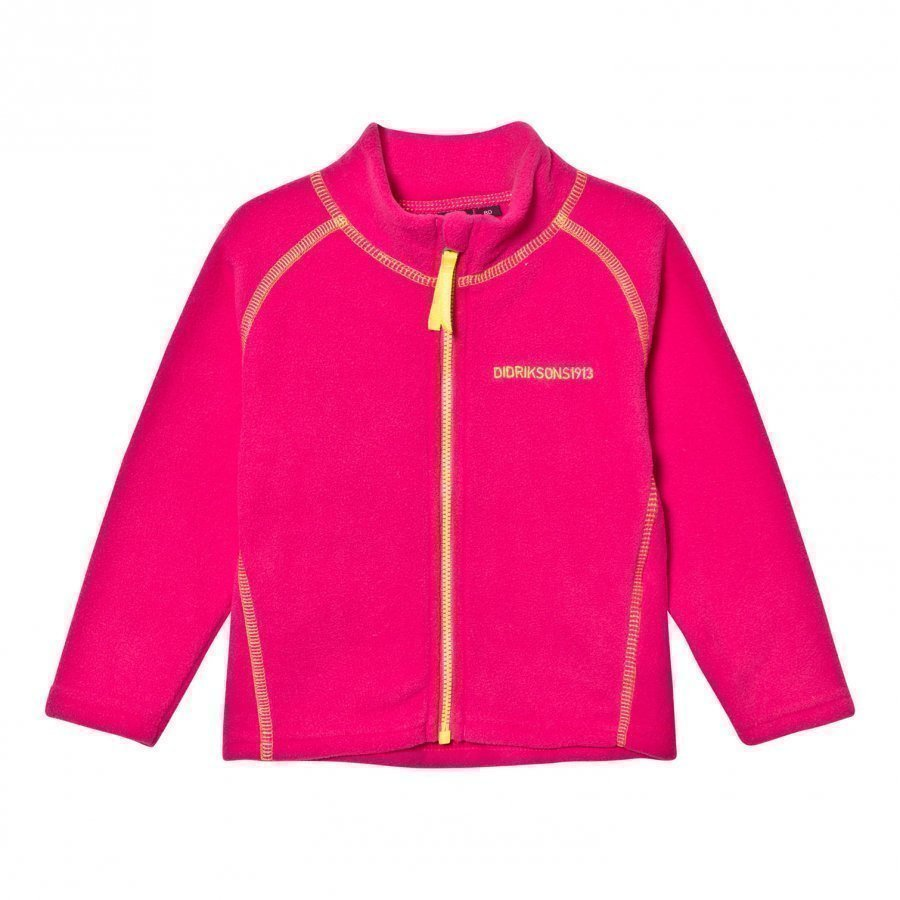 Didriksons Monte Kids Fleece Jacket Fuchsia Fleece Takki