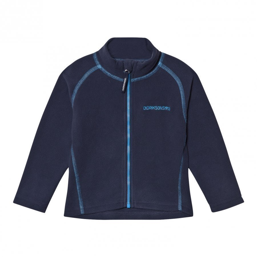 Didriksons Monte Kids Fleece Jacket Navy Fleece Takki