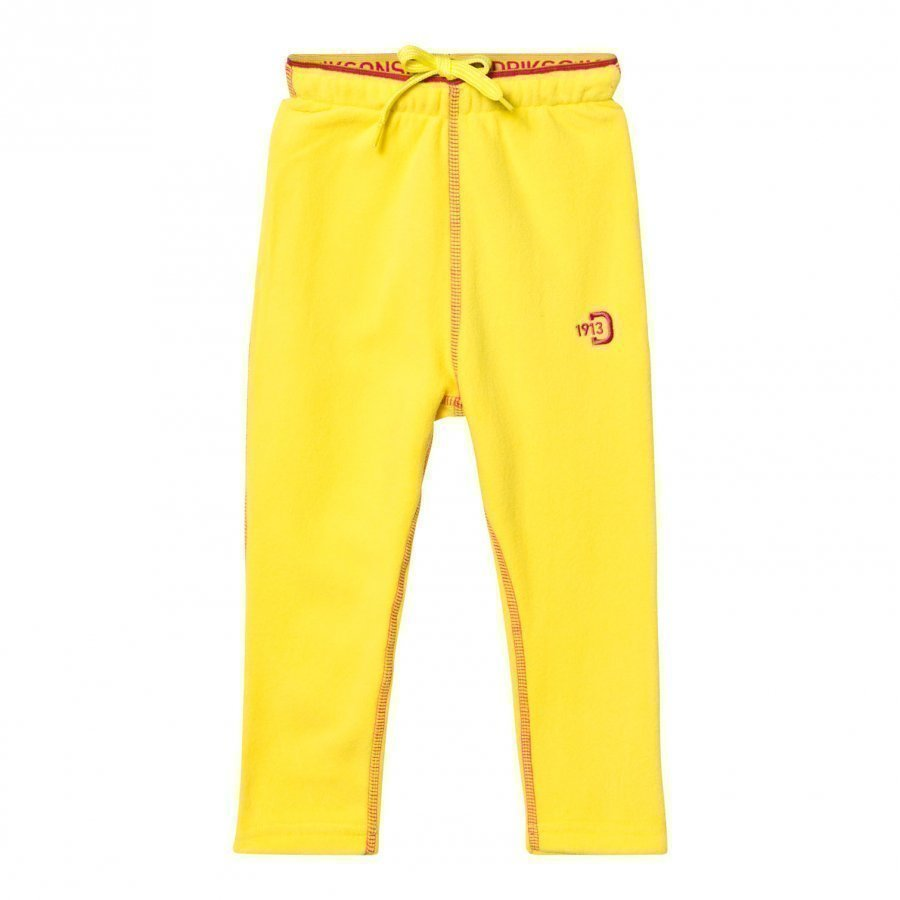 Didriksons Monte Kids Fleece Pants Gorse Yellow Fleece Housut