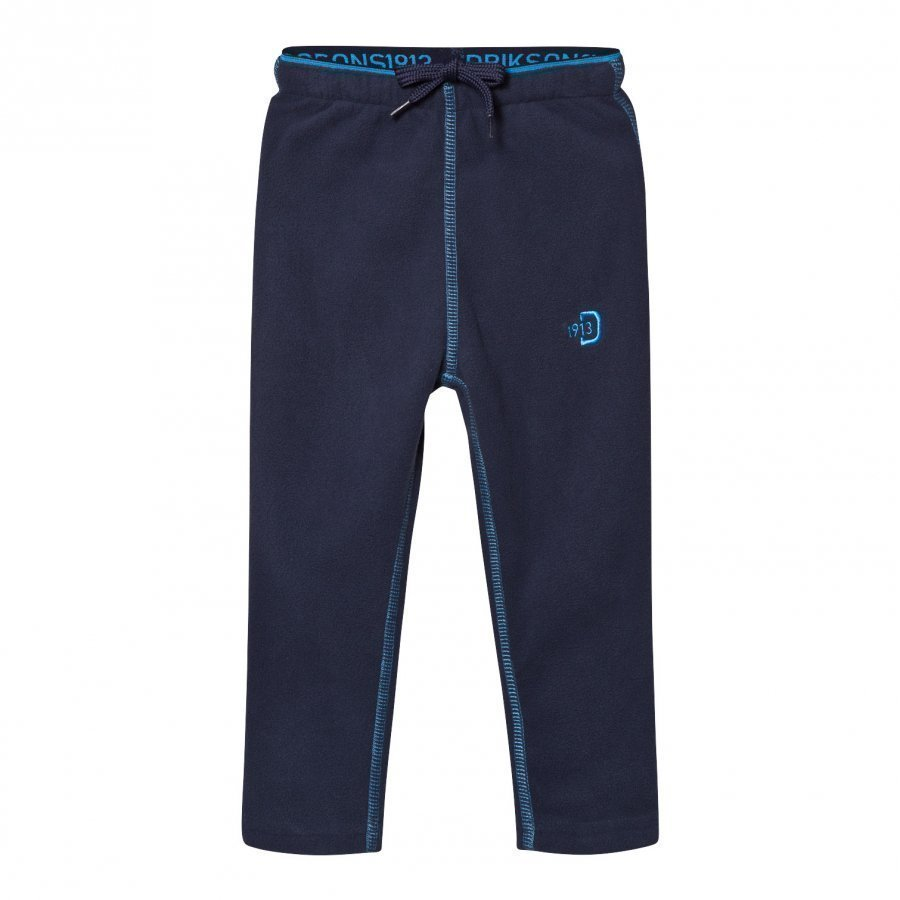 Didriksons Monte Kids Fleece Pants Navy Fleece Housut