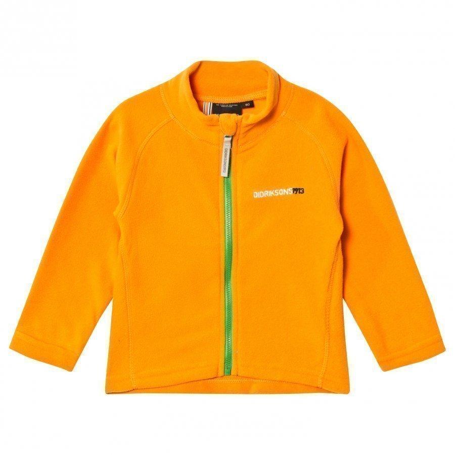 Didriksons Monte Kids Jacket 2 Mandarine Fleece Takki